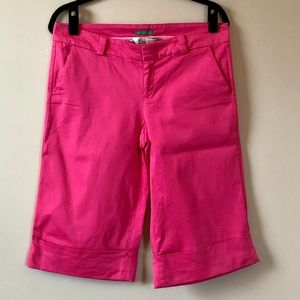 Lilly Pulitzer Palm Beach Fit Pink Cuff Shorts - 8